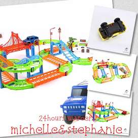 SAY02-Mainan Anak Perakitan Mobil Kereta Track Teka-teki Pendidikan Un