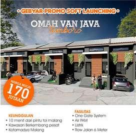 Rumah murah malang kota dekat exit  toll sawojajar 170 jt