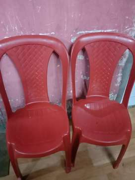 It's a plastic chair