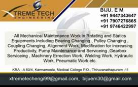 Mechanical Maintenance work in all types of machinery