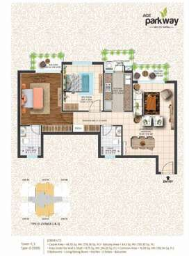 2BHK Flat for Sale in Ace Parkway in Noida Sector 149