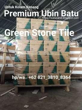 Premium kelas Grade A Ubin Batu Hijau Untuk Kolam Renang Lantai Tegel.