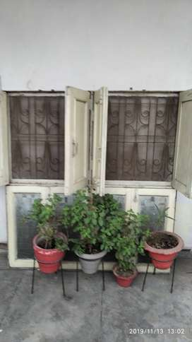 Window iron with wooden pannel