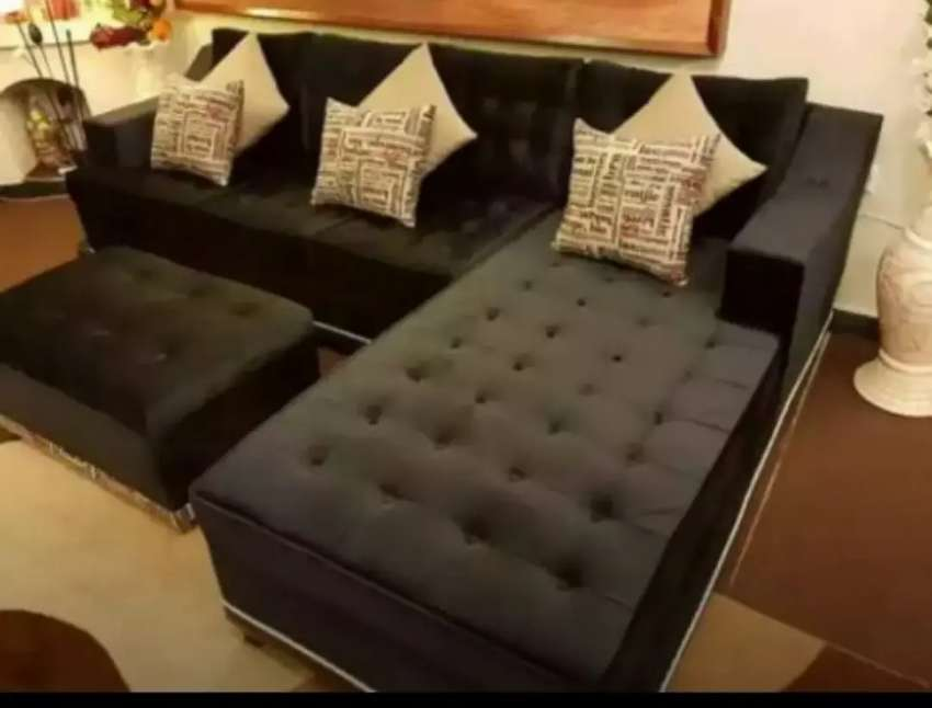 Sale Sale Sale L shape sofa set only 26999 only on Al Muslim Furniture 0