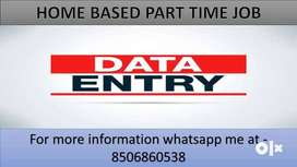 Home based job part time work Data entry typing and ad posting work  W