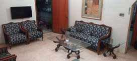 5 seaters sofa set pure sheesham wood with flower unique centre table