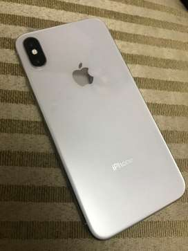 iPhone X 64 GB silver, FU, PTA approved, with Charger and EarPods
