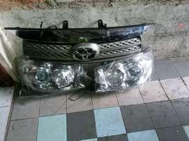 Headlamp dan grill fortuner 2010