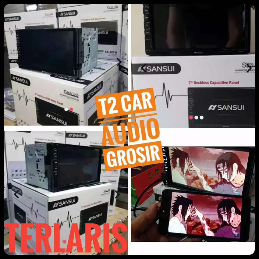 Ready stock 2din SANSUI DECKLESS ANDROID LINK 7INC+camera hd harga ok 0