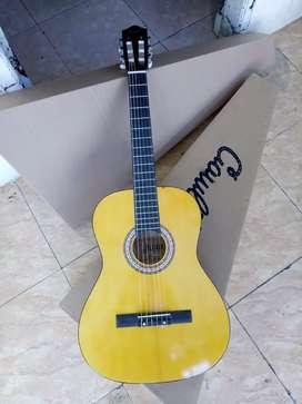 Gitar klasik nylon Dluxe original import free tas