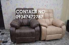 Brand new broad seat recliner sofa, Customized recliner sofa factory