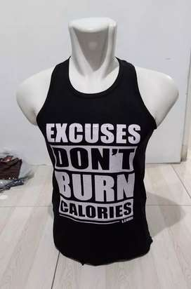 Kaos Singlet Gym / Lekbong/Daleman Pria Bahan Spandek