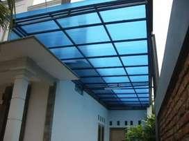Canopi minimalis atep polycarbonat & solarflet