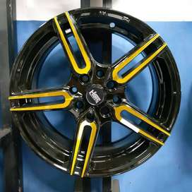 Velg Mobil Ring 15 Sayosa Gold Black ( Brio Corolla March Yaris Rio )