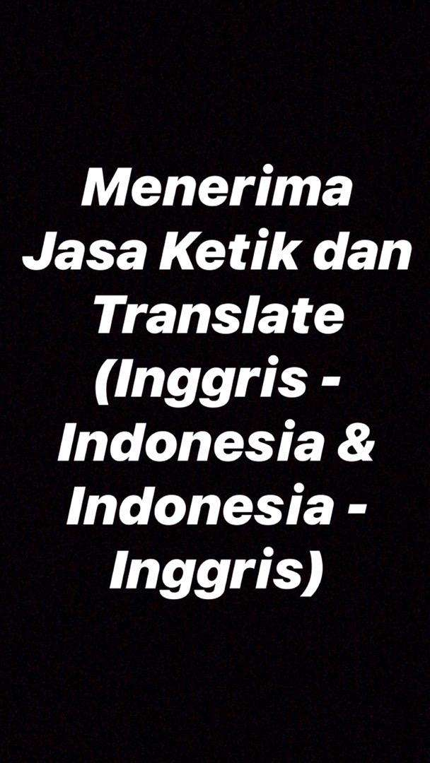 JASA KETIK DAN TRANSLATE 0