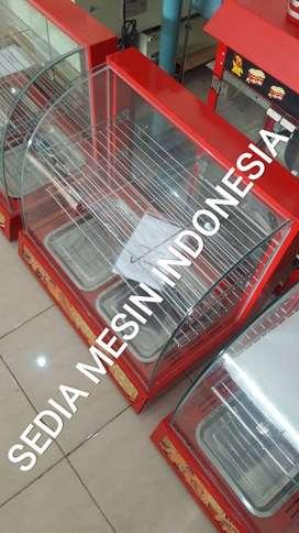 Mesin Showcase Warmer Penghangat Makanan Ayam 2 Pan Murah