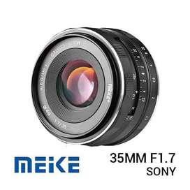 New / Baru Lensa Meike 35mm f1.7 for SONY e mount