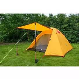 Tenda Naturehike profesional 2p warna oranye.