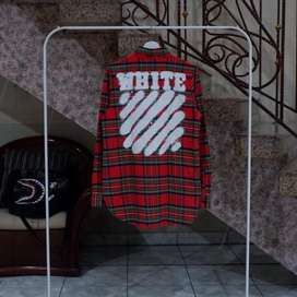 Offwhite Checkered Flannel