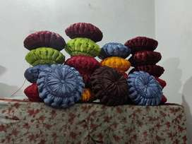 Beautiful and colourful coushions hand made