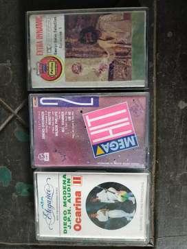 3 cassette George baker Selection, MegaHit 2,Diego Modena Ocarina ll.