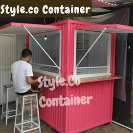 BOOTH CONTAINER | CONTAINER USAHA KULINER | CONTAINER COFFEE BAR