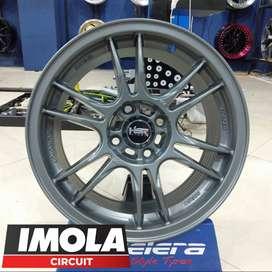Velg mobil brio ring 15 HSR wheel Noshiro baut 4x100 Grey murah