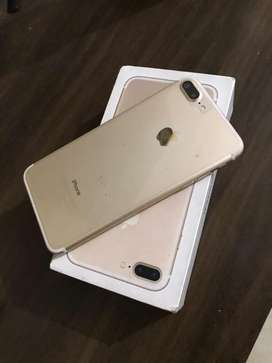 Iphone 7 plus 32gb gold in mint condition
