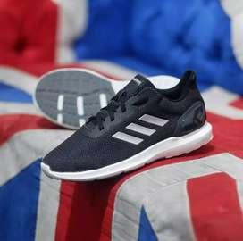 Original BNWB Sepatu Running Adidas Cosmic Black Silver