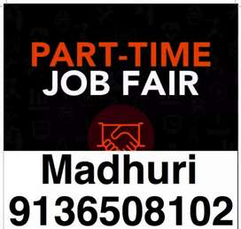 ((male/female apply for part time job))