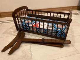 Baby Swinging Cot - Wooden