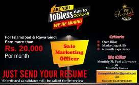 Salesman required for selling brand products (field job)