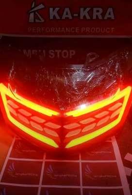 lampu rem fullset N-Max Merah