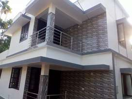New Villa/1400 Sqft/3 BHK/ 4.5 Cents/ Near Mannuthy  44Lakhs