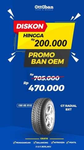 Promo Ban GT Radial BXT 195 65 R15 AUDI Luxio APV Avanza Serena