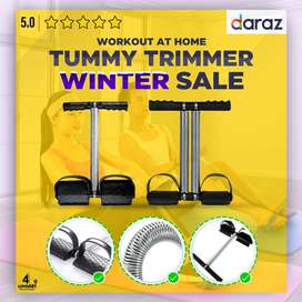 Fitness Tummy Trimmer Single and Double Spring Abs Exerciser