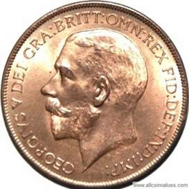 One penny 1921