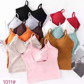 Tanktop sport bra with cup adem