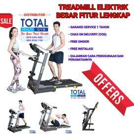 Alat Olahraga Lari Treadmill Elektrik Besar Fitur Lengkap Murah COD