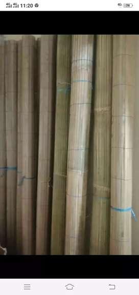 Tirai bambu dan tirai kulit bambu dan isi bambu
