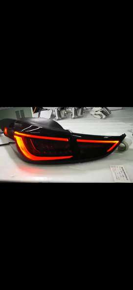 Elentra led tail lights smoke style