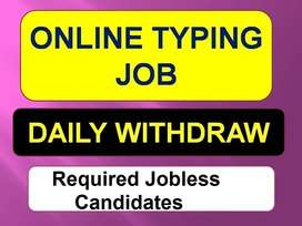 TYPING Job opportunities for Jobless CANDIDATES