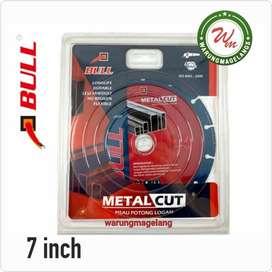 MATA Pisau potong besi 7 inch batu metal cut BULL FOR MESIN GERINDA