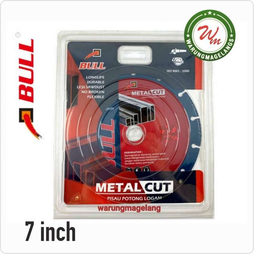 MATA Pisau potong besi 7 inch batu metal cut BULL FOR MESIN GERINDA 0