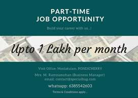 Earn upto 75k - 1L per month as part-time