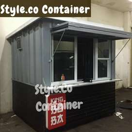 BOOTH SEMI CONTAINER | CONTAINER CAFE BAR RESTO | CONTAINER COFFEE BAR