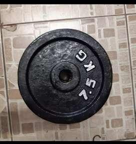 Barbel plat 7,5kg
