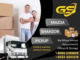 GS Movers & Packers/ shazor/Mazda/Cantanor Home Shifting/House Movers