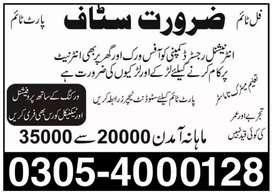 Part-time Full-time Home-Based job for males,females