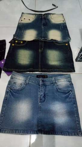 Rok mini n 3/4 jeans banyak pilihan